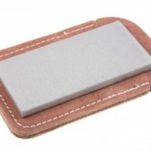 "Eze-Lap 2"" x 4"" Extra Coarse Grit Diamond Bench Stone (150) with a Leather Pouch"