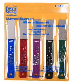 Eze-Lap Diamond Hone & Stone 5 pack set